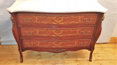 Old Mahogany/Inlaid Walnut Chest