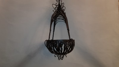 Black Hanging Basket