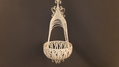 Cream Hanging Basket