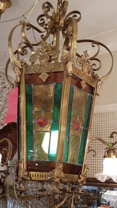 Leaded Glass Lantern