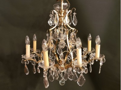 Antique Marie Therese crystal chandelier